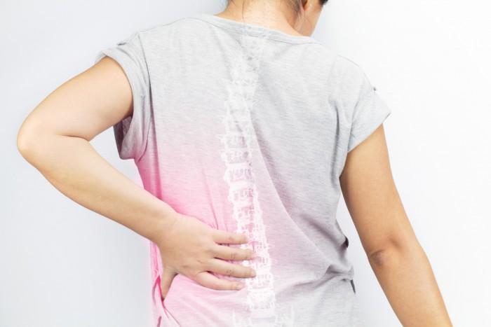 spine bones injury white background