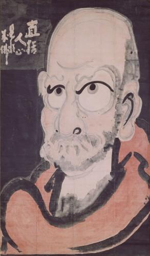 達磨像 白隠慧鶴筆 江戸時代 18世紀 大分・萬壽寺蔵 通期展示