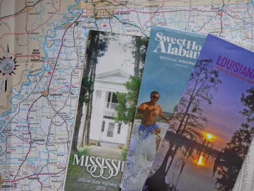 各州のウェルカム・センターでもらったドライブマップ。