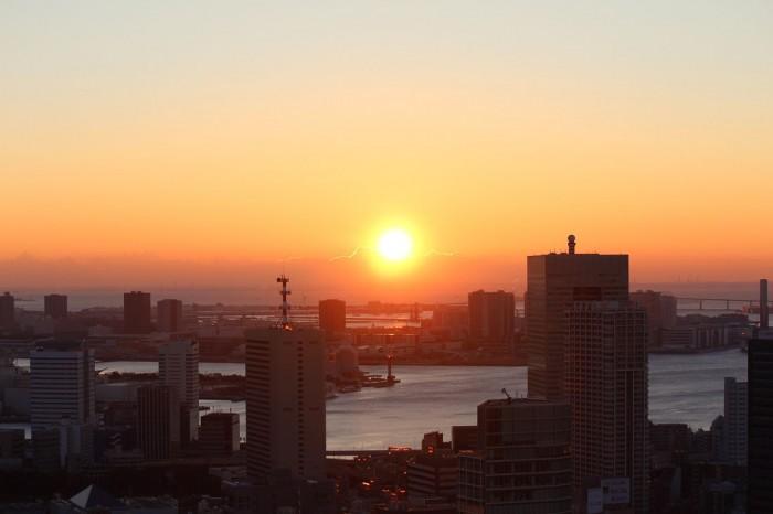 東京タワー朝焼け_s