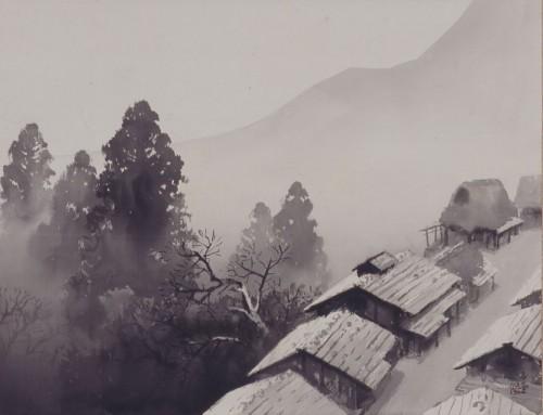 川合玉堂《月「月天心》〔第3回雪月花展(1954年) パラミタミュージアム蔵〕