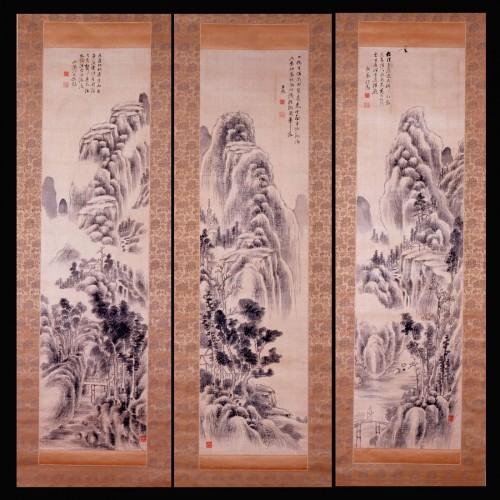 頼山陽「山水図」 江戸時代後期 毛利博物館