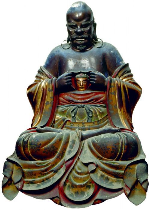 范道生作『羅怙羅尊者像』寛文4年(1664)江戸時代 京都・萬福寺蔵