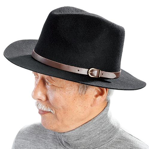 写真=ブラック 本牛革のベルトがアクセントになり、おしゃれをさらに引き立てる。カジュアル、フォーマルを問わず合わせやすい定番のスタイル。
