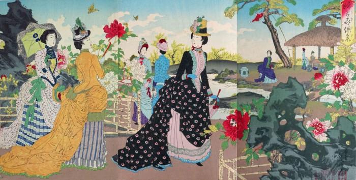 水野年方「婦有喜倶菜」 明治21年(1888) 太田記念美術館蔵
