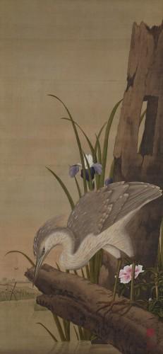 鷺図 小田野直武筆 一幅 江戸時代 18世紀 歸空庵 【展示期間:12月14日~1月9日】