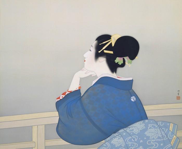 上村松園《待月》〔昭和19年(1944)足立美術館蔵〕