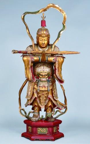 范道生作『韋駄天立像』寛文2年(1662)江戸時代 京都・萬福寺蔵