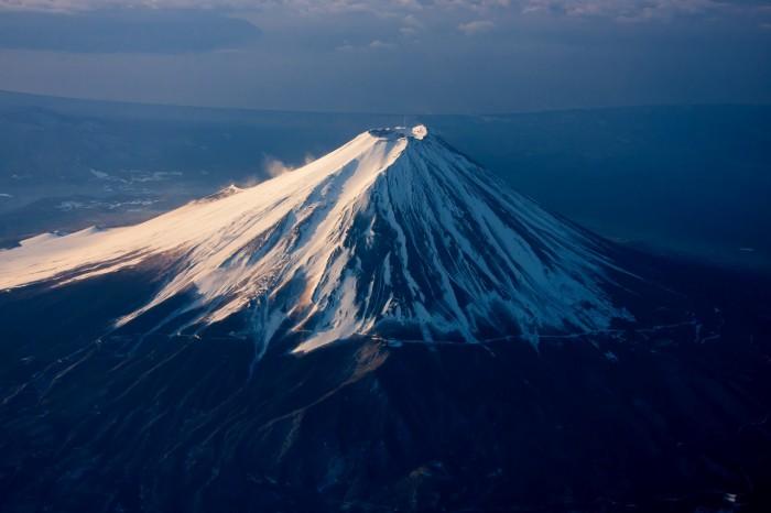 ライブラリ★朝日を浴びる富士山(メイン写真)