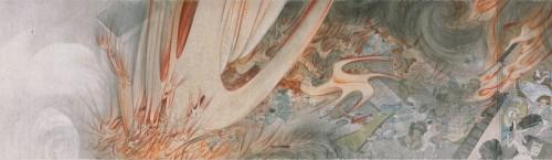 重要文化財 円山応挙筆「七難七幅図巻」3巻のうち〔江戸時代 明和5年(1768) 相国寺蔵〕会期中巻替えあり。