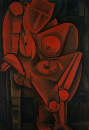 萬鐵五郎《もたれて立つ人》1917年 東京国立近代美術館