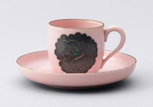 《陶試紅銀彩碗皿》 香蘭社 1941-43年頃(昭和10年代後半) 日本陶業連盟蔵