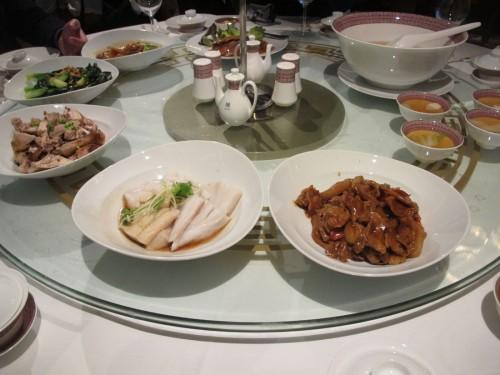 中国料理ディナー。