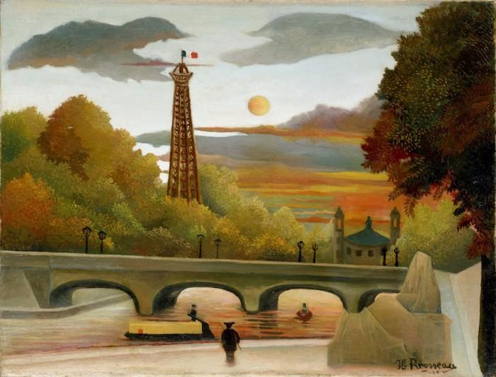 アンリ・ルソー 《エッフェル塔とトロカデロ宮殿の眺望》 1896-1898年 油彩/カンヴァスポーラ美術館蔵