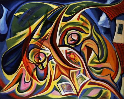 岡本太郎《まひるの顔》1948年 川崎市岡本太郎美術館 ©公益財団法人岡本太郎記念現代芸術振興財団