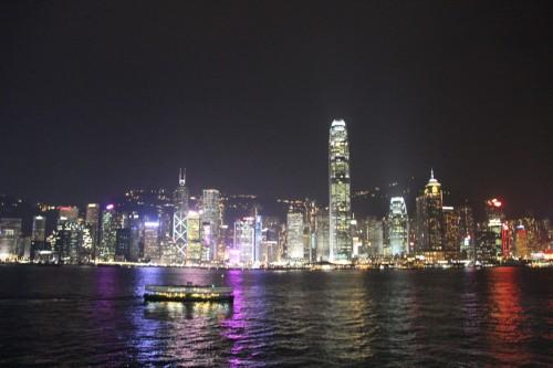 香港夜景。