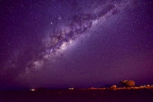ナミブ砂漠の星空。