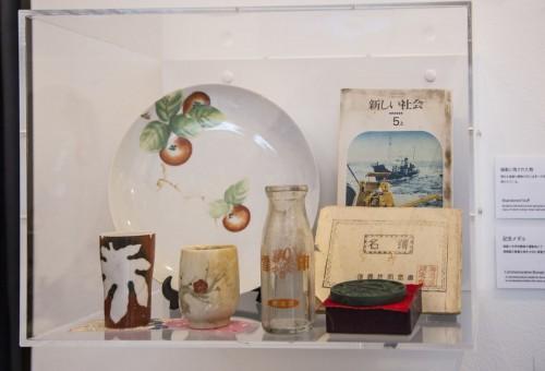 軍艦島に残されていた生活用品が展示されている。