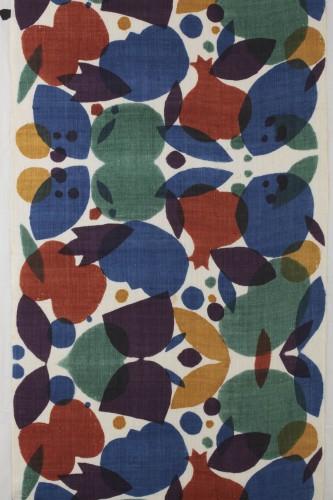 「注染柘榴文布(部分)」 柚木沙弥郎 1980年代 日本民藝館蔵