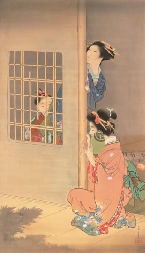 上村松園《月影》〔明治41年(1908)永青文庫蔵〕
