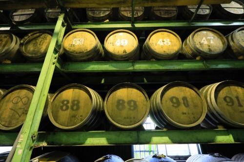 樫の木樽で長期貯蔵。じっくりと熟成が進み、樫樽の自然な香りが移った古酒になります。