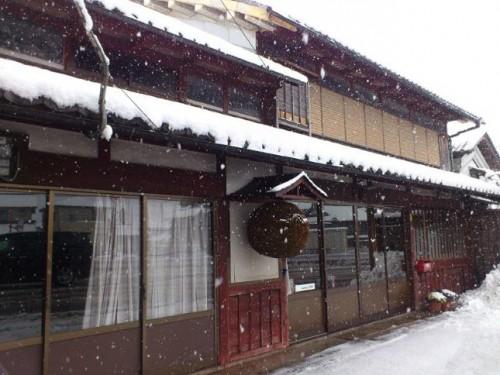 冬の畑酒造正面玄関。