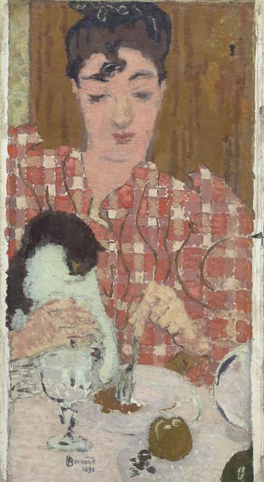 ピエール・ボナール《格子柄のブラウス》〔1892年 油彩・カンヴァス〕(C)RMN-Grand Palas(musée d'Orsay)/ René-Gabriel Ojéda / distributed by AMF