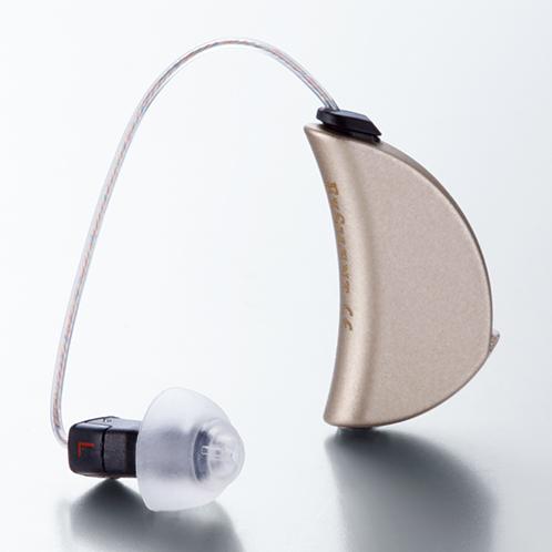 左がイヤホン部分(入出力部)。右の耳掛け部分は本体。