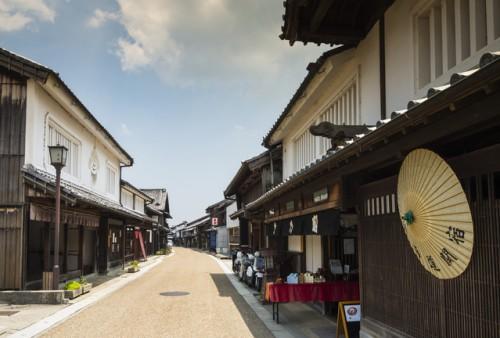 旧東海道、関宿の風景