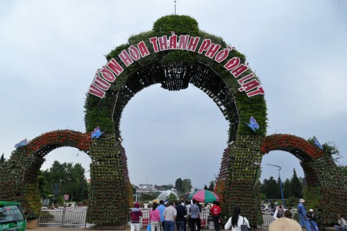 ダラット市ガーデンの入り口 (C)Azusa Shiraishi