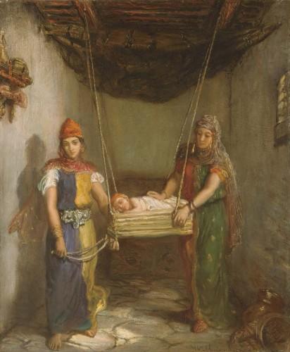 テオドール・シャセリオー《コンスタンティーヌのユダヤ人街の情景》〔1851年 油彩・カンヴァス メトロポリタン美術館蔵〕