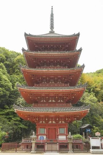 明王院五重塔(国宝、逓減率0.714)