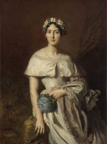 テオドール・シャセリオー《カバリュス嬢の肖像》〔1848年 油彩・カンヴァス カンぺール美術館蔵〕Collection du musée des beaux-arts de Quimpe