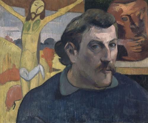 ポール・ゴーガン《「黄色いキリスト」のある自画像》〔1890‐1891年 油彩・カンヴァス〕(C)RMN-Grand Palas(musée d'Orsay)/ René-Gabriel Ojéda / distributed by AMF