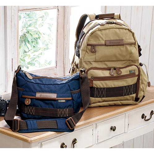 写真左=ハバナ21(ブルー)/右=ハバナ41(ベージュ) ポケットも豊富に装備、旅行や街歩き用としても兼用できる。