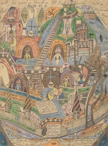 《デンマークの島 グリーンランド南=端》1910年 ベルン美術館アドルフ・ヴェルフリ財団蔵(C)Adolf Wolfli Foundation,museum of Fine Arts Bern