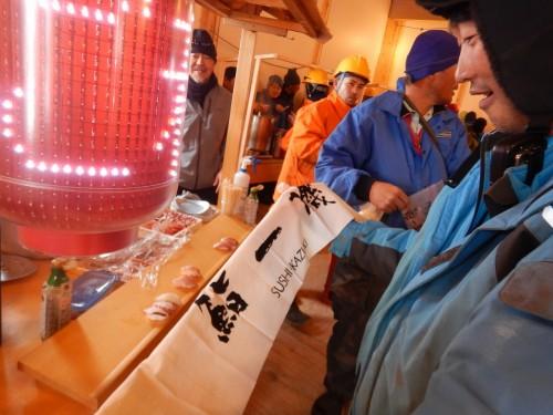 寿司屋台は小堺一幾さんのお父さんからの寄贈品