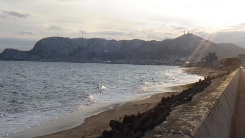 啄木が散歩した大森浜