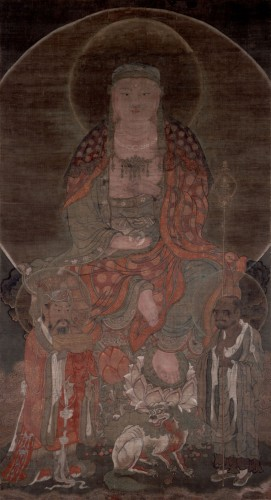 重要文化財 地蔵菩薩像 1幅 絹本着色 朝鮮・高麗時代 13‐14世紀 神奈川・円覚寺蔵