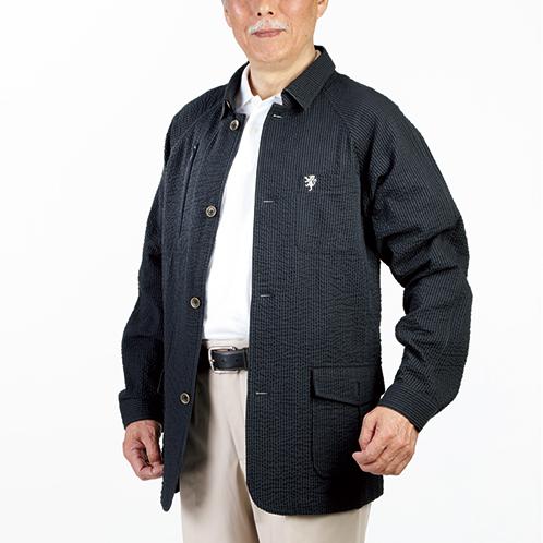 シアサッカー トラベルサマージャケット
