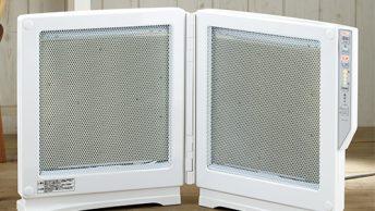 パネルを全開にすると広範囲に遠赤外線効果がいきわたり、ぽかぽかと暖かい。
