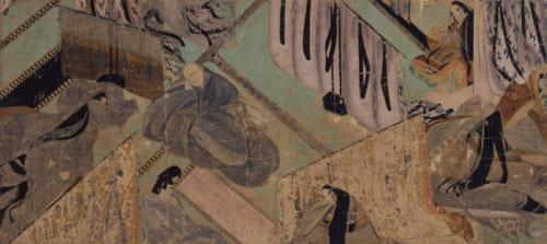 国宝「源氏物語絵巻」柏木(一) 絵 〔平安時代 12世紀 徳川美術館蔵〕※展示期間11月3日~11月18日