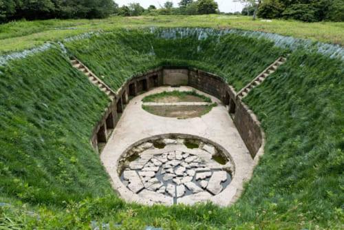 保存状態が良好な千代ケ崎砲台跡