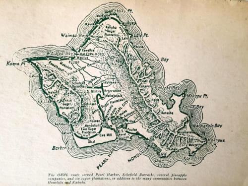 オアフ島を半周するようにレールが伸びていた