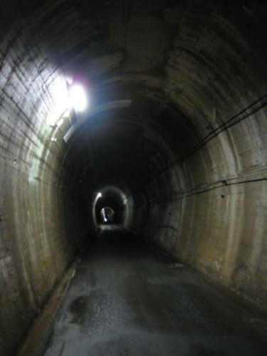 夏焼第2トンネルの内部
