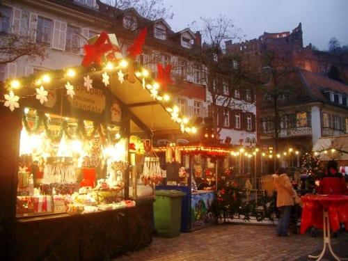 クリスマスの屋台(ハイデルベルグ)