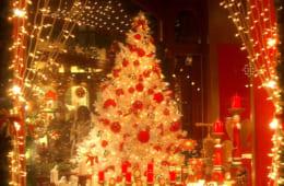 クリスマスのショーウィンドー