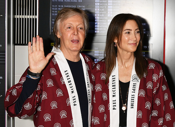 TOKYO, JAPAN - OCTOBER 29: Paul McCartney and Nancy Shevell arrive at Haneda Airport on October 29, 2018 in Tokyo, Japan. (Photo by Jun Sato/GC Images)