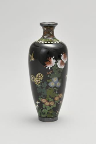 並河靖之《花鳥図花瓶》