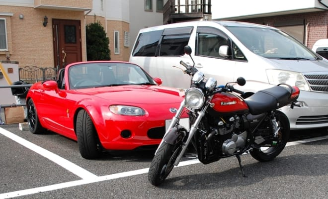 自動車とオートバイの6輪生活は、敏郎さんが何歳になろうと続けるそう。